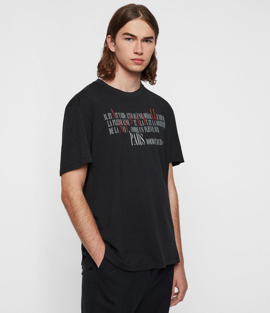 Hommes T-Shirt La Ville (jet_black) - Image 4