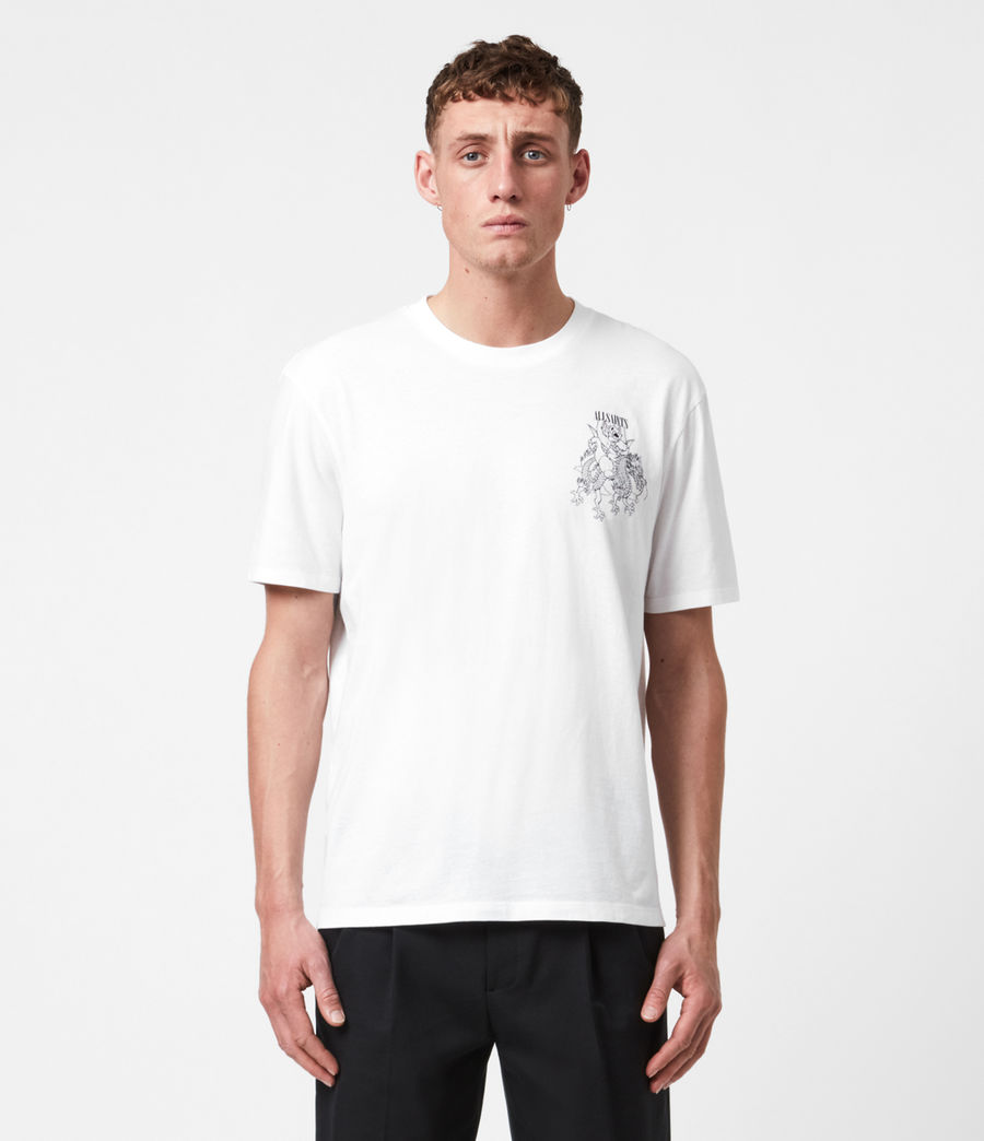 Mens Joyride Crew T-Shirt (optic_wht_jet_blk) - Image 1