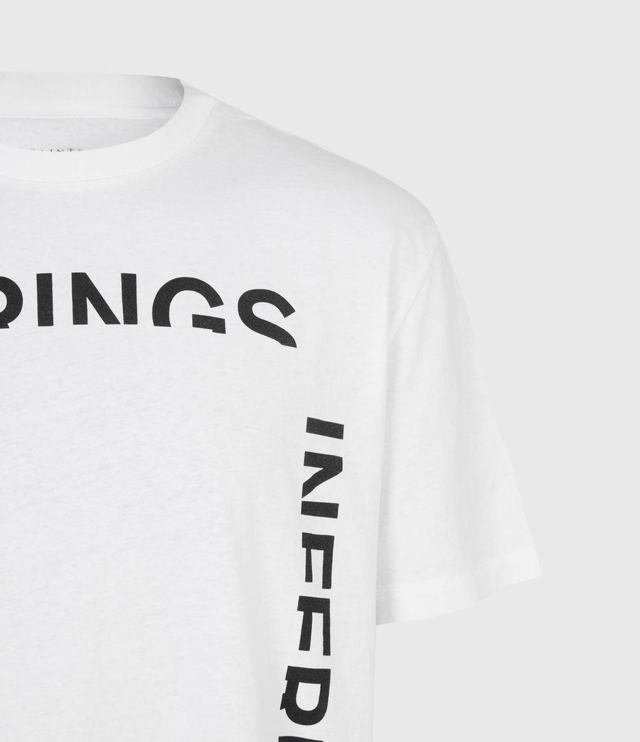 Mens Infernal Crew T-Shirt (optic_white) - Image 5