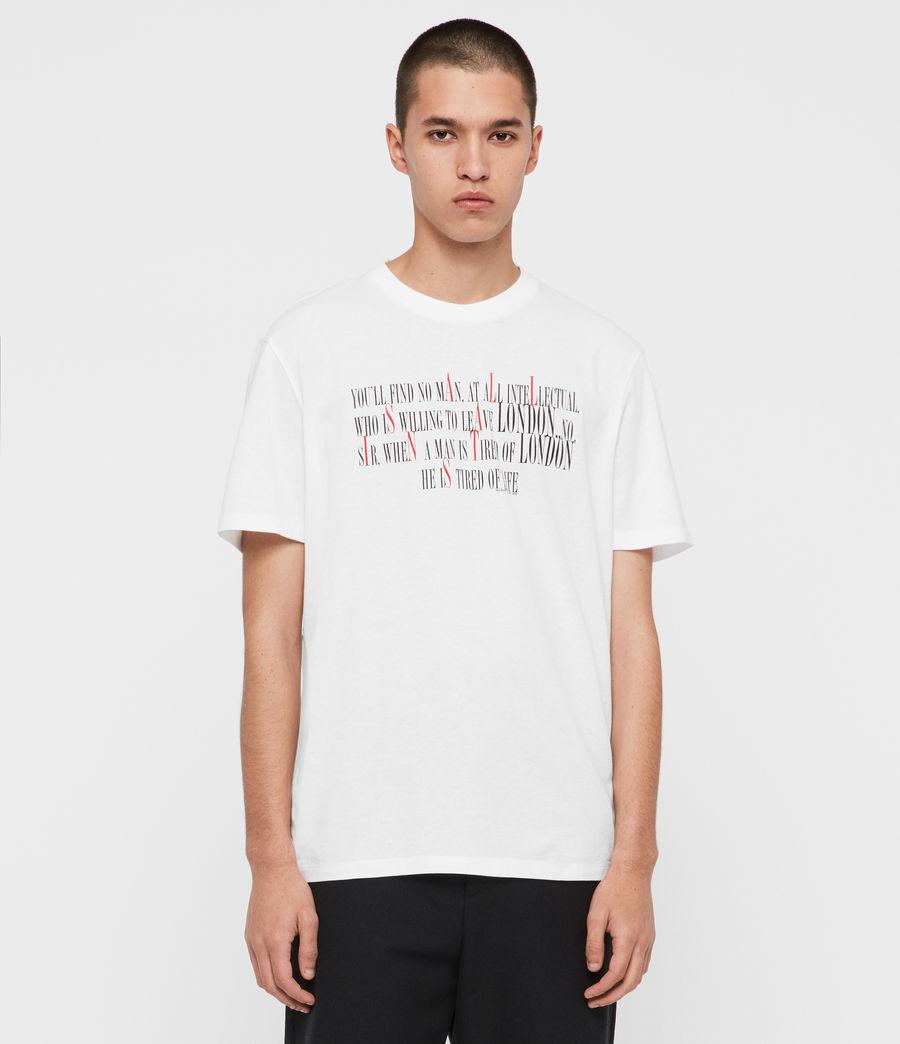 Herren London Livin Crew T-Shirt (optic_white) - Image 1