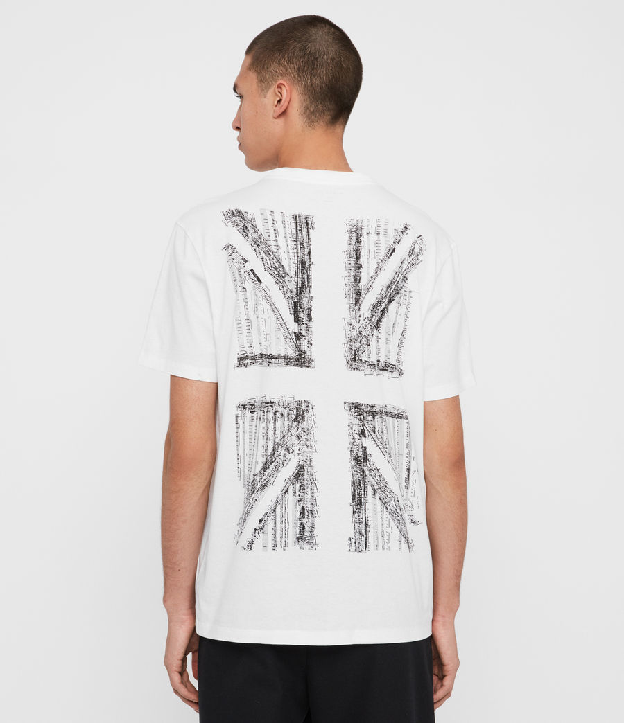 Herren London Livin Crew T-Shirt (optic_white) - Image 2