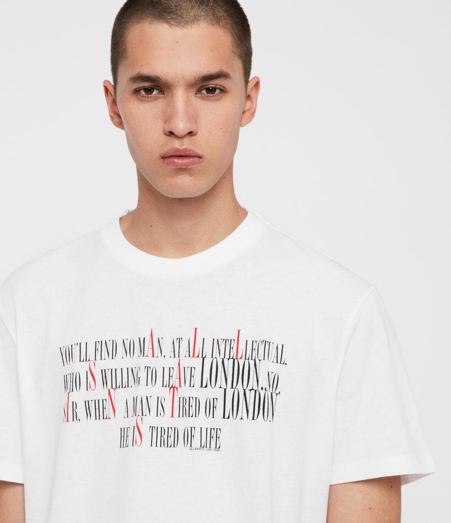 Men's London Livin Crew T-Shirt (optic_white) - Image 3