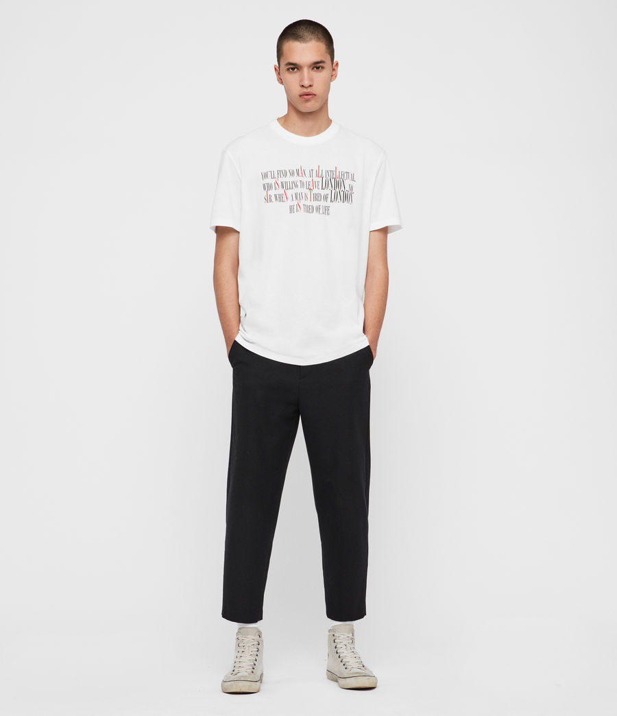 Herren London Livin Crew T-Shirt (optic_white) - Image 4