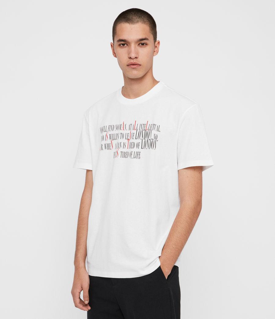 Herren London Livin Crew T-Shirt (optic_white) - Image 5