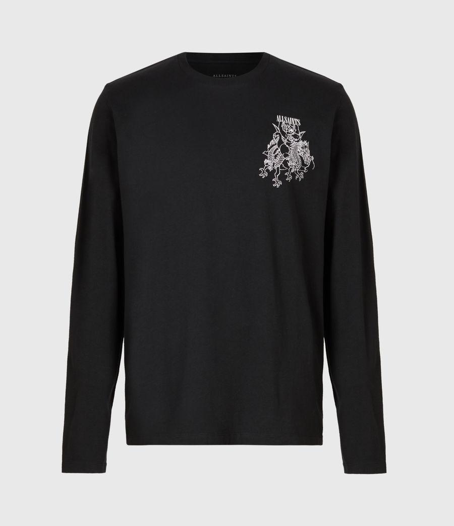 Men's Joyride Long Sleeve Crew T-Shirt (jet_blk_optic_wht) - Image 3