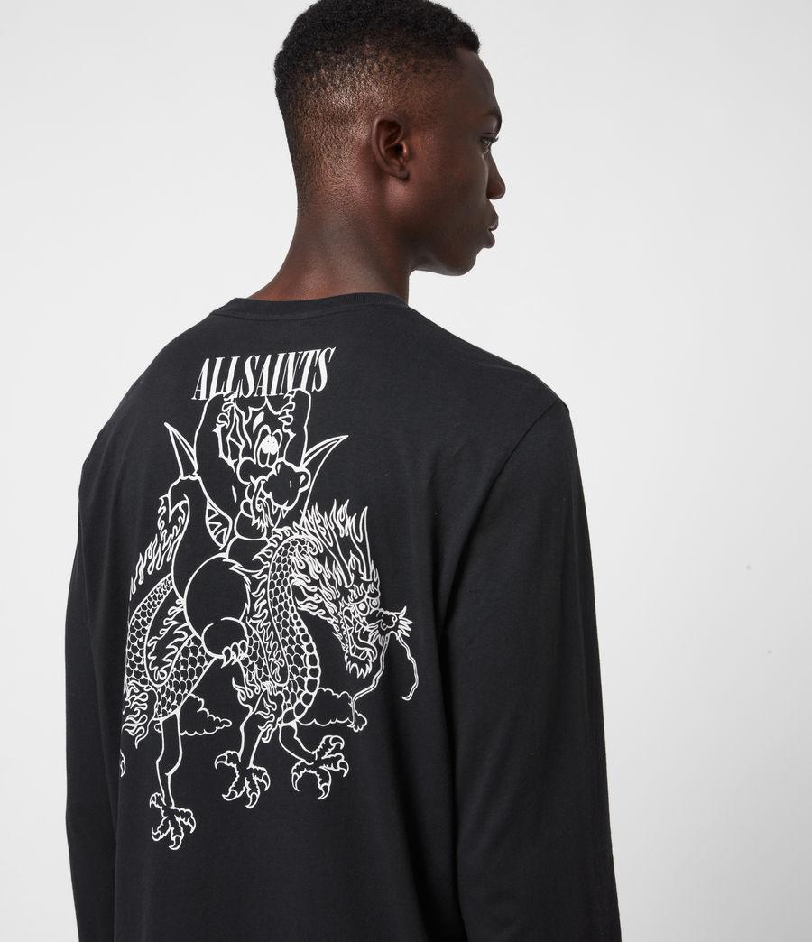 Men's Joyride Long Sleeve Crew T-Shirt (jet_blk_optic_wht) - Image 4