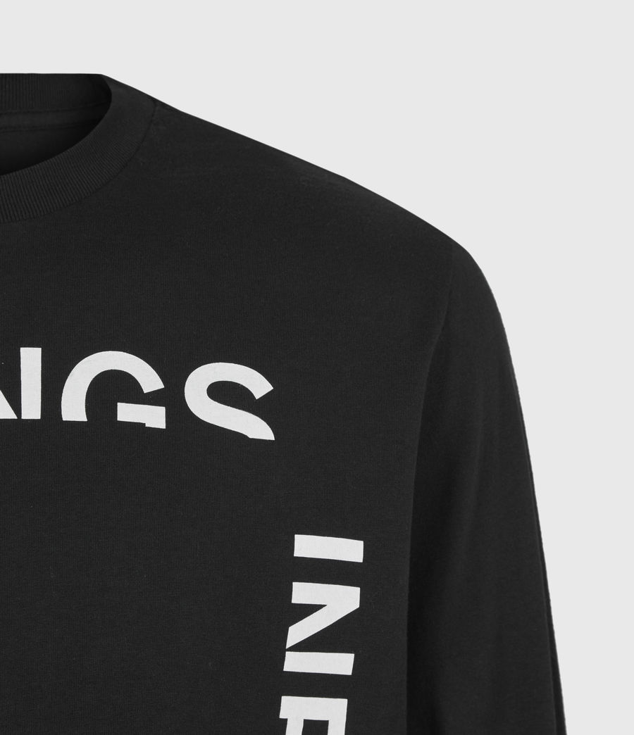 Mens Infernal Crew T-Shirt (jet_black) - Image 5