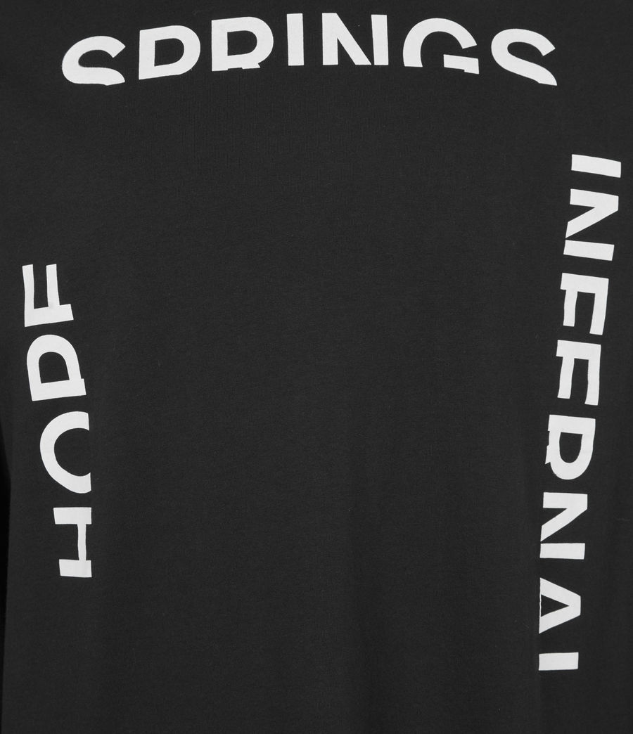 Mens Infernal Crew T-Shirt (jet_black) - Image 6