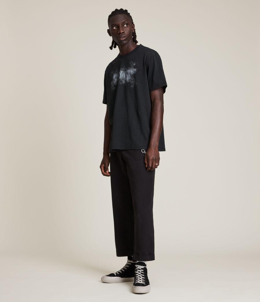Men's Shadow Stamp Crew T-Shirt (jet_black) - Image 2