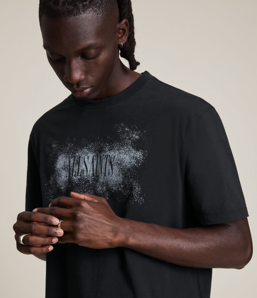 Men's Shadow Stamp Crew T-Shirt (jet_black) - Image 3