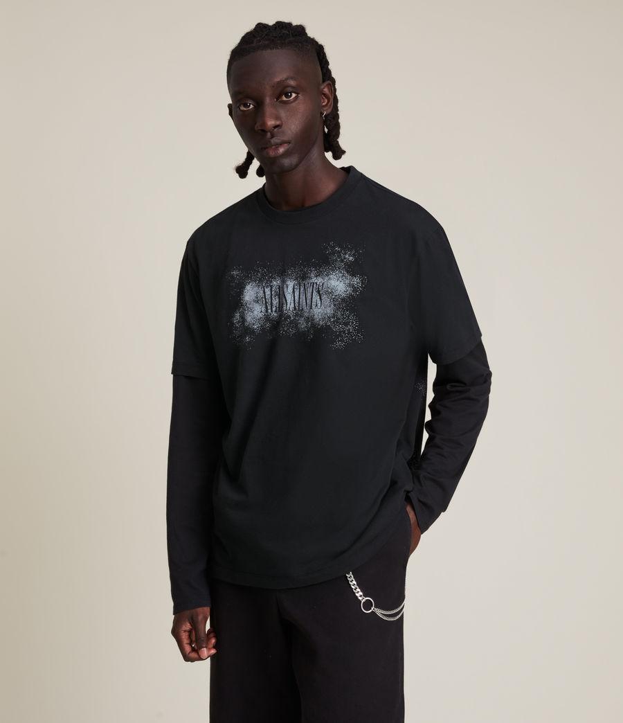 Men's Shadow Stamp Crew T-Shirt (jet_black) - Image 4