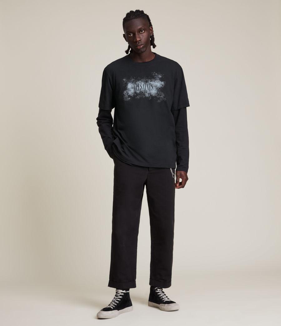 Men's Shadow Stamp Crew T-Shirt (jet_black) - Image 5