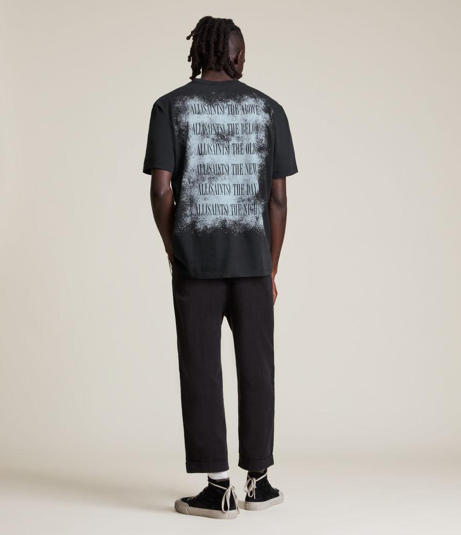 Men's Shadow Stamp Crew T-Shirt (jet_black) - Image 6