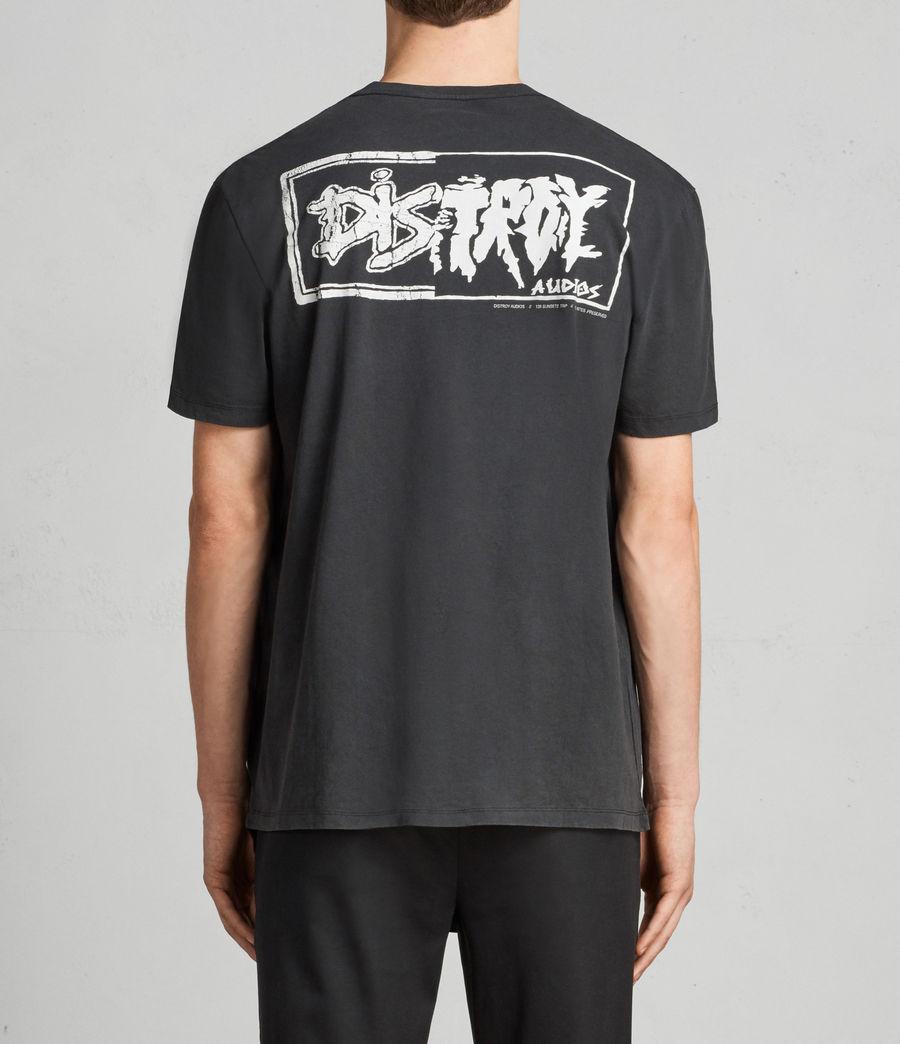 Hombres Camiseta Distroy (vintage_blk_white) - Image 4