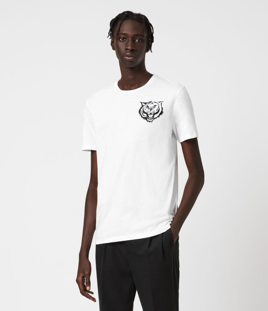 Mens Tigr Crew T-Shirt (optic_wht_jet_blk) - Image 1