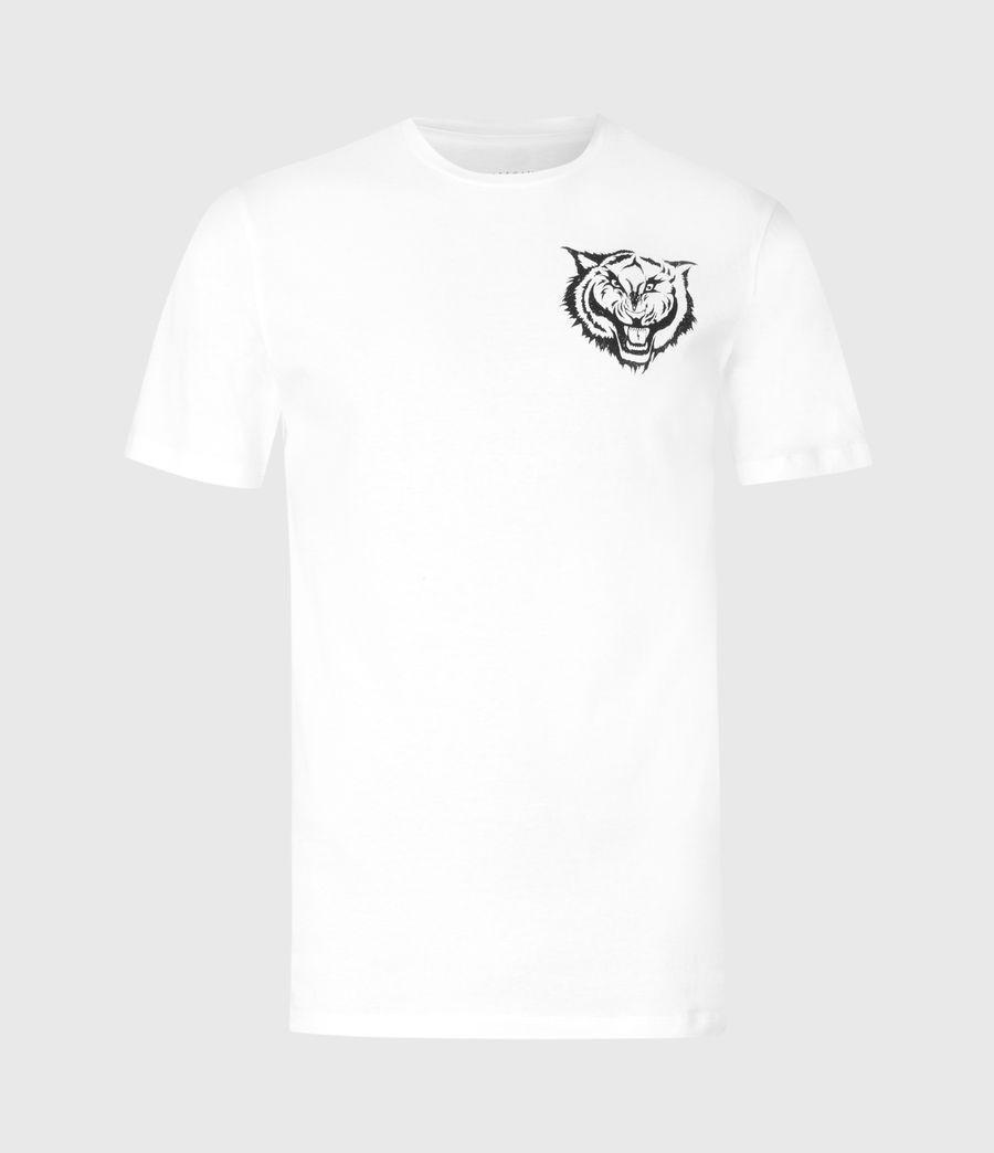 Mens Tigr Crew T-Shirt (optic_wht_jet_blk) - Image 2