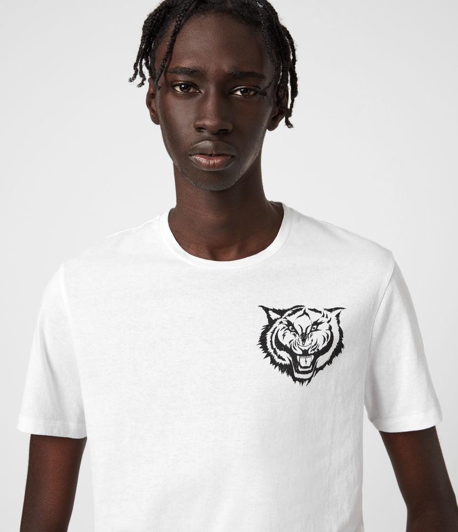Mens Tigr Crew T-Shirt (optic_wht_jet_blk) - Image 4