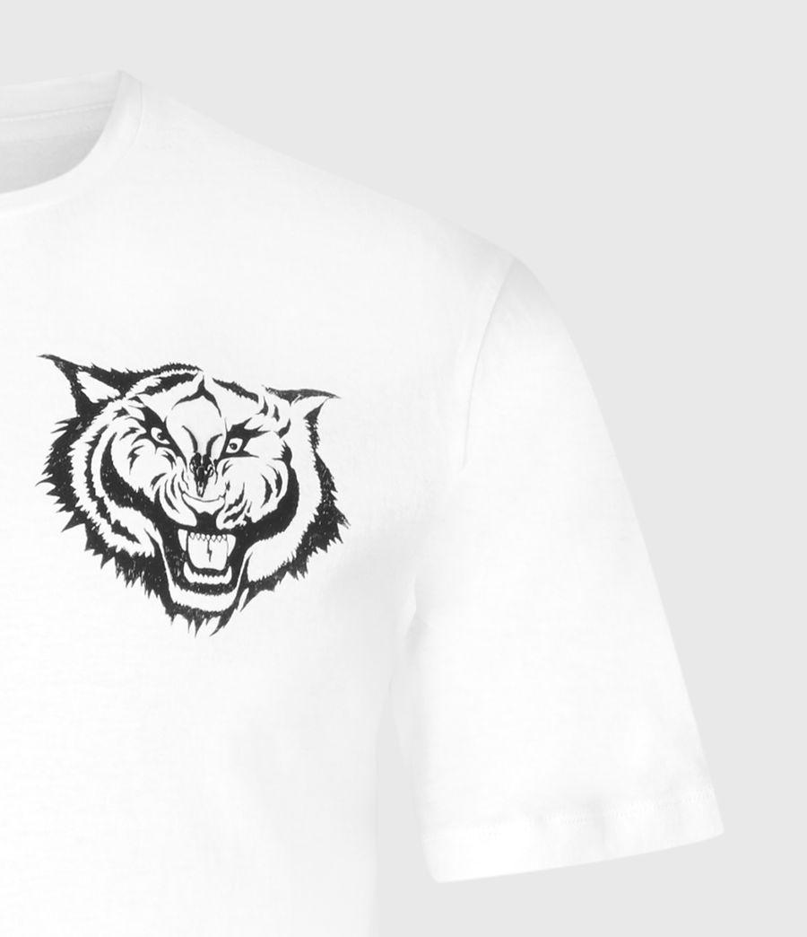 Mens Tigr Crew T-Shirt (optic_wht_jet_blk) - Image 5