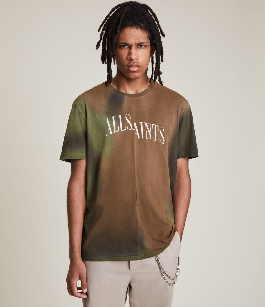 Men's Camo Dropout Crew T-Shirt (meadow_green) - Image 2