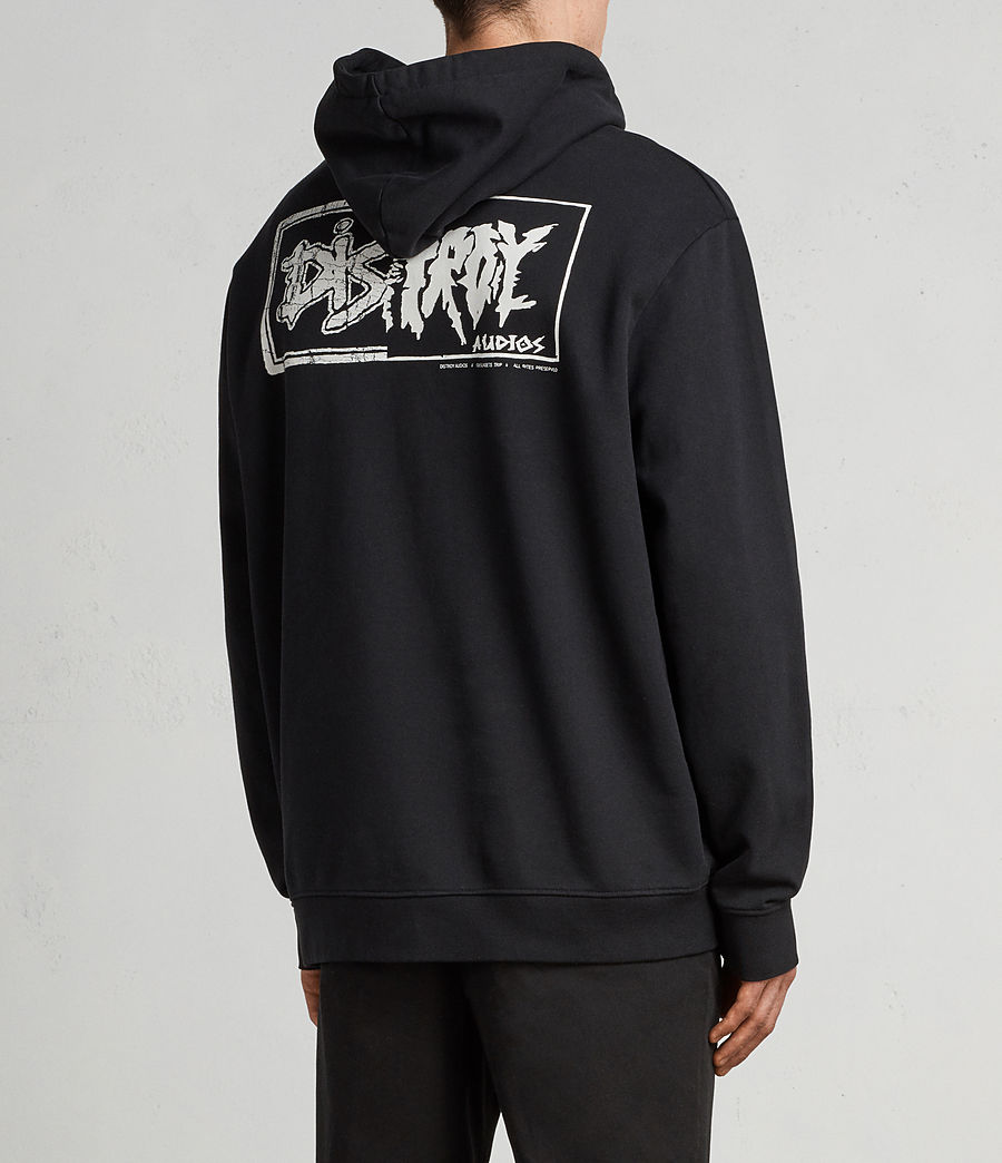 Mens Distroy Pullover Hoodie (vintage_blk_optic) - Image 5