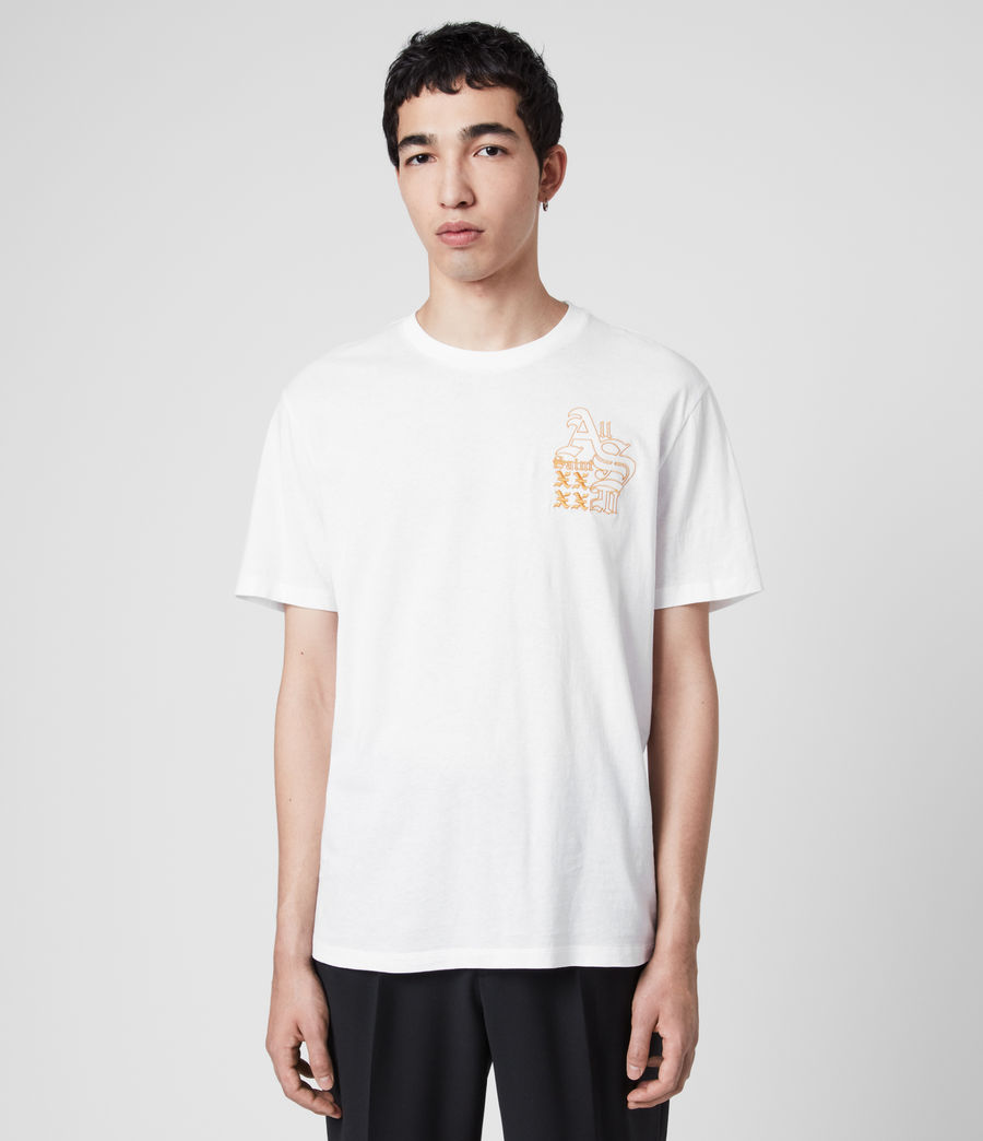Mens Ex Mono Crew T-Shirt (optic_white) - Image 1