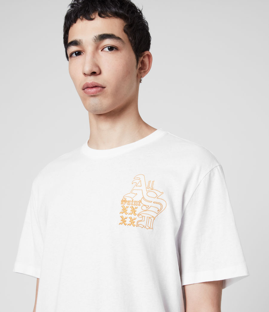 Mens Ex Mono Crew T-Shirt (optic_white) - Image 2