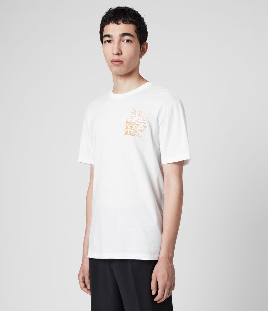 Mens Ex Mono Crew T-Shirt (optic_white) - Image 4