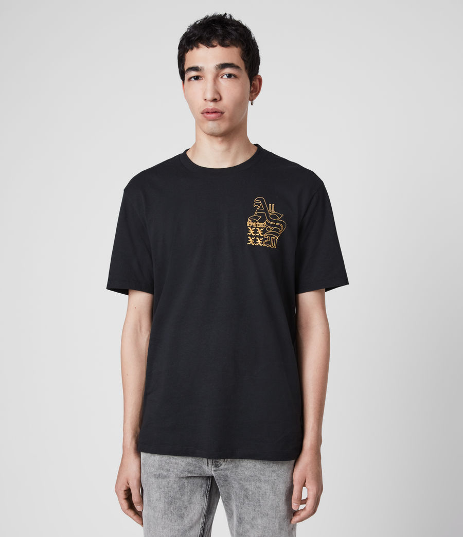 Men's Ex Mono Crew T-Shirt (jet_black) - Image 2
