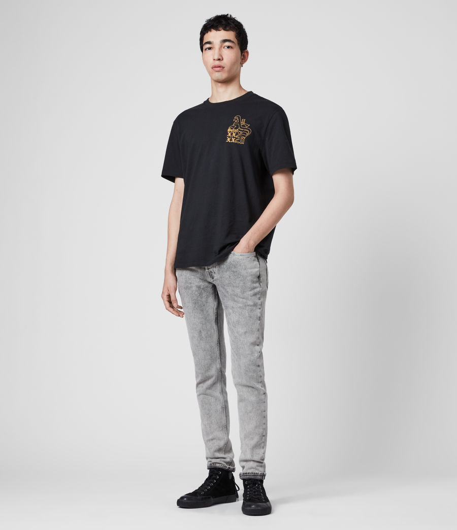 Men's Ex Mono Crew T-Shirt (jet_black) - Image 3