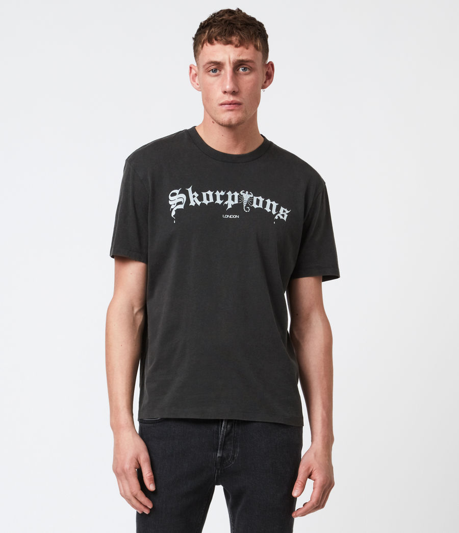 Mens Skorpions London T-Shirt (jet_blk_optic_wht) - Image 1
