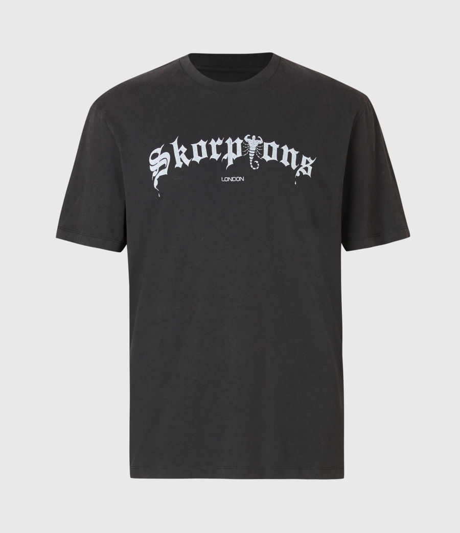 Mens Skorpions London T-Shirt (jet_blk_optic_wht) - Image 2