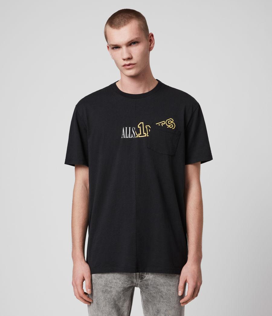 Mens College Patch Crew T-Shirt (jet_black) - Image 1