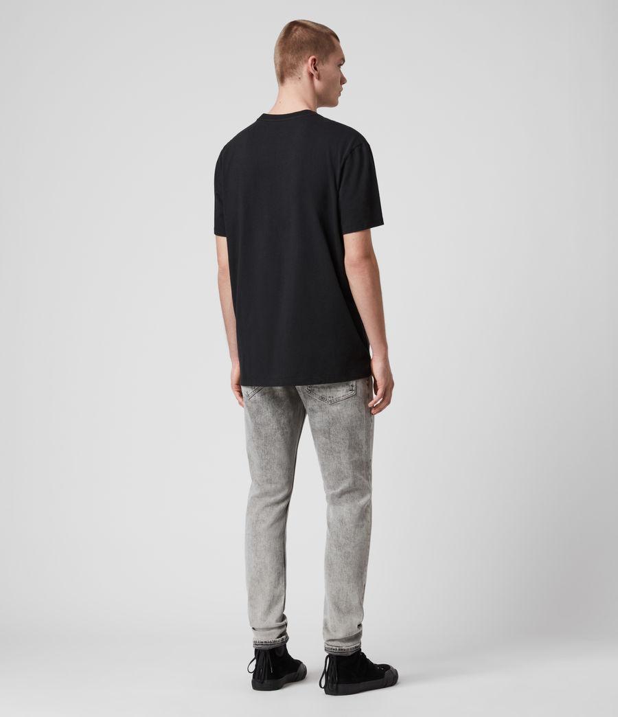Mens College Patch Crew T-Shirt (jet_black) - Image 5