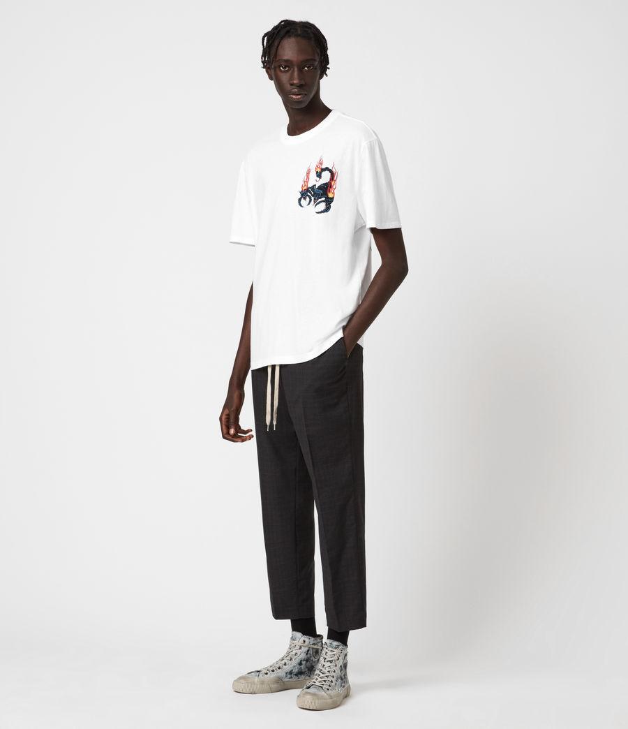 Uomo Stinger Short Sleeve Crew T-Shirt (optic_white) - Image 6