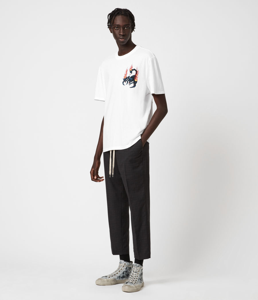 Hombre Stinger Short Sleeve Crew T-Shirt (optic_white) - Image 6