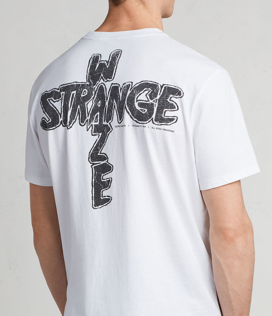 Hombres Camiseta Strange Switch (optic_white_black) - Image 2