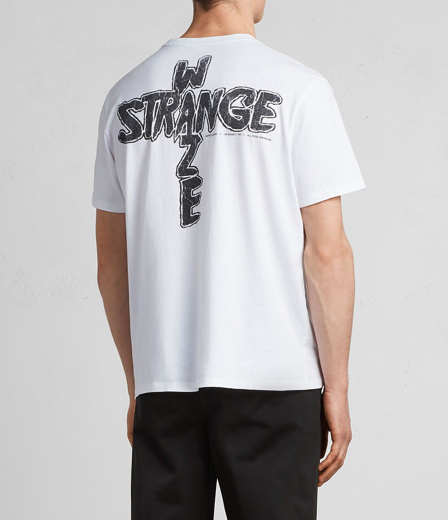 Hombres Camiseta Strange Switch (optic_white_black) - Image 4