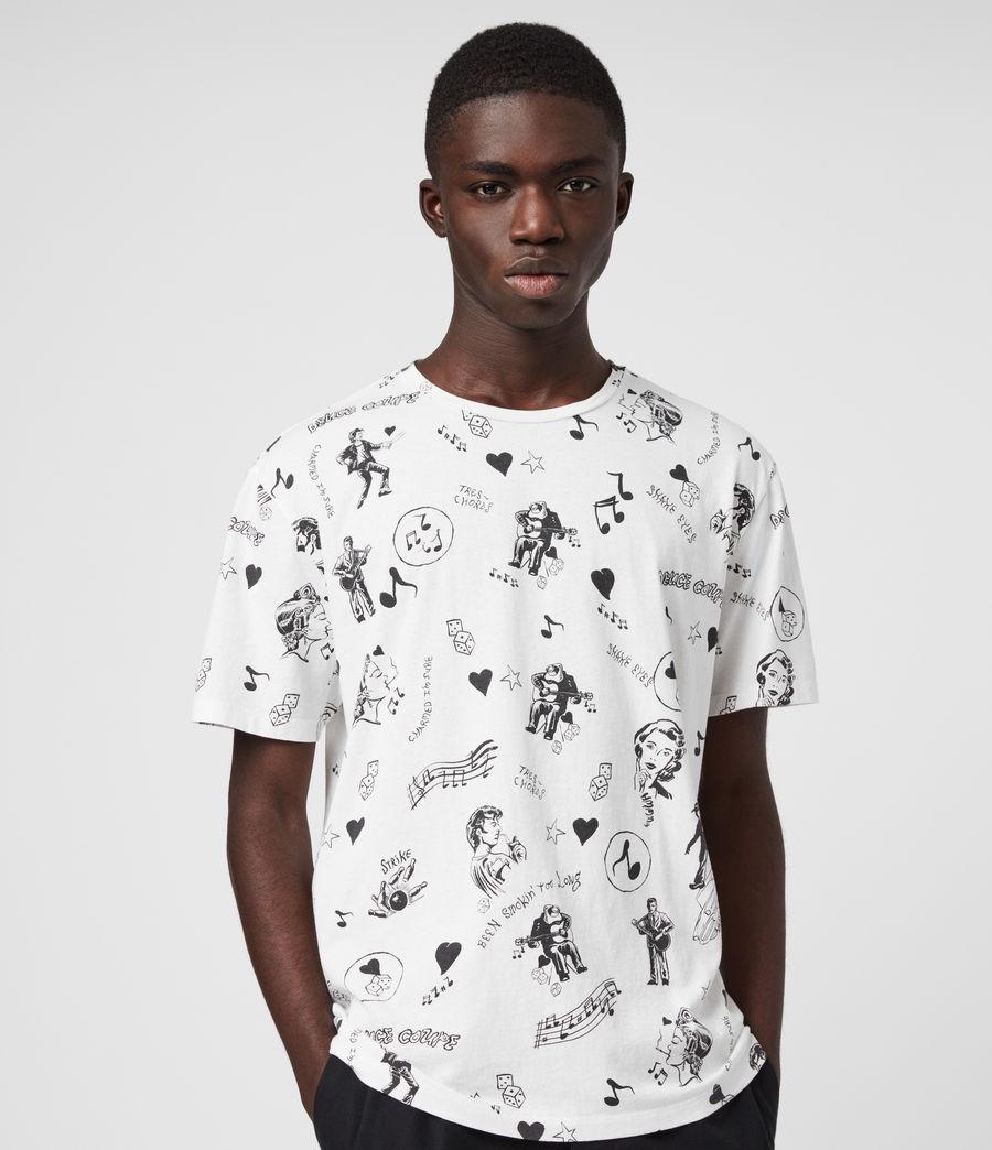 Mens Tres Chordos Crew T-Shirt (chalk_white) - Image 1