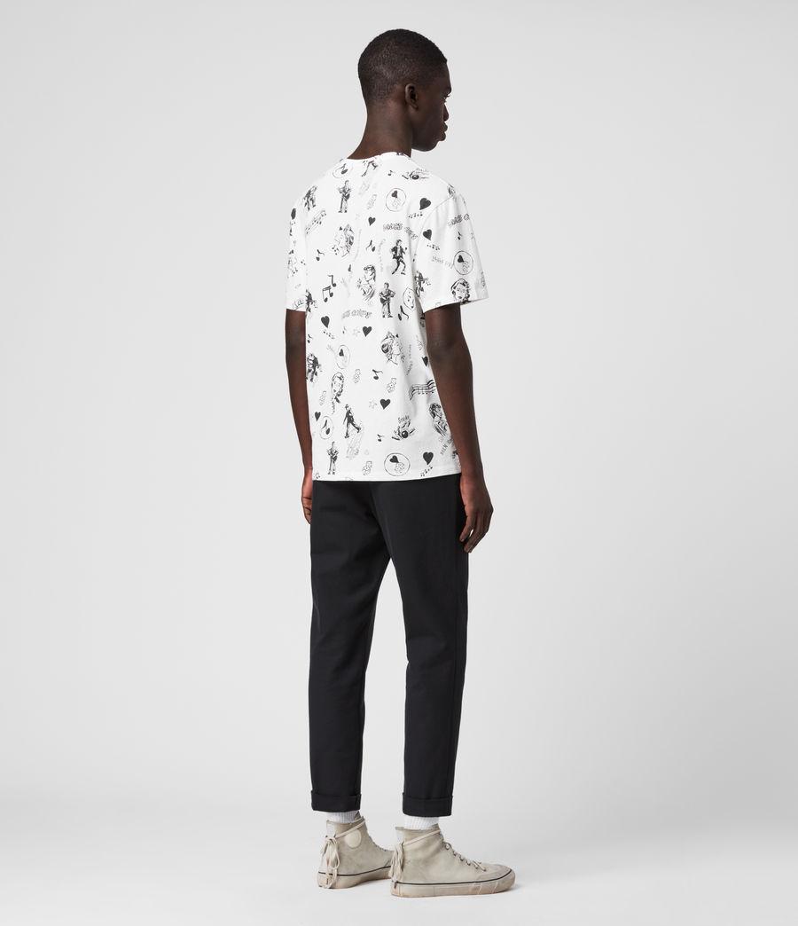 Mens Tres Chordos Crew T-Shirt (chalk_white) - Image 5