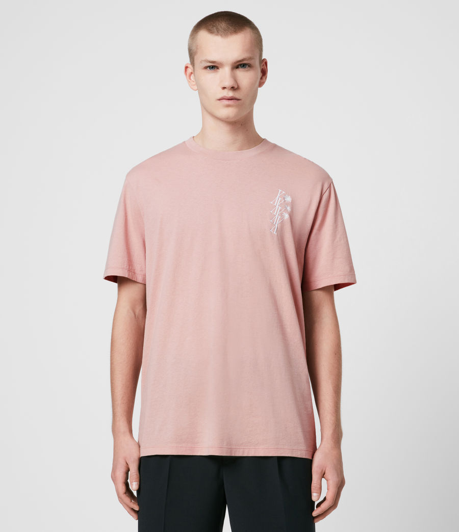 Men's Tre Palmas Crew T-Shirt (sunset_pink) - Image 1