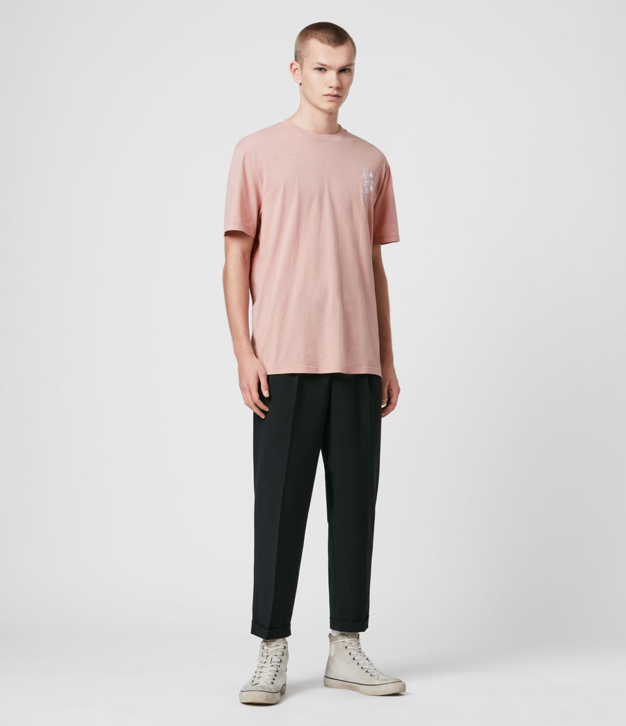 Men's Tre Palmas Crew T-Shirt (sunset_pink) - Image 3