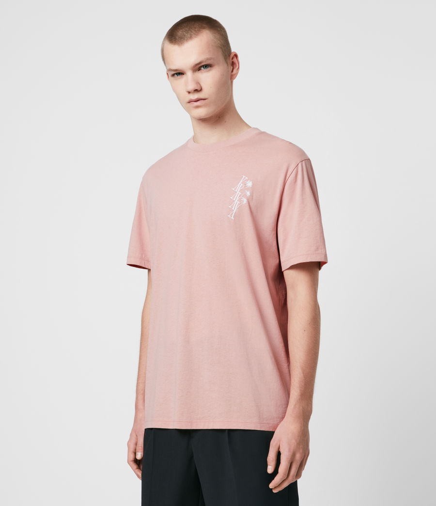 Men's Tre Palmas Crew T-Shirt (sunset_pink) - Image 4