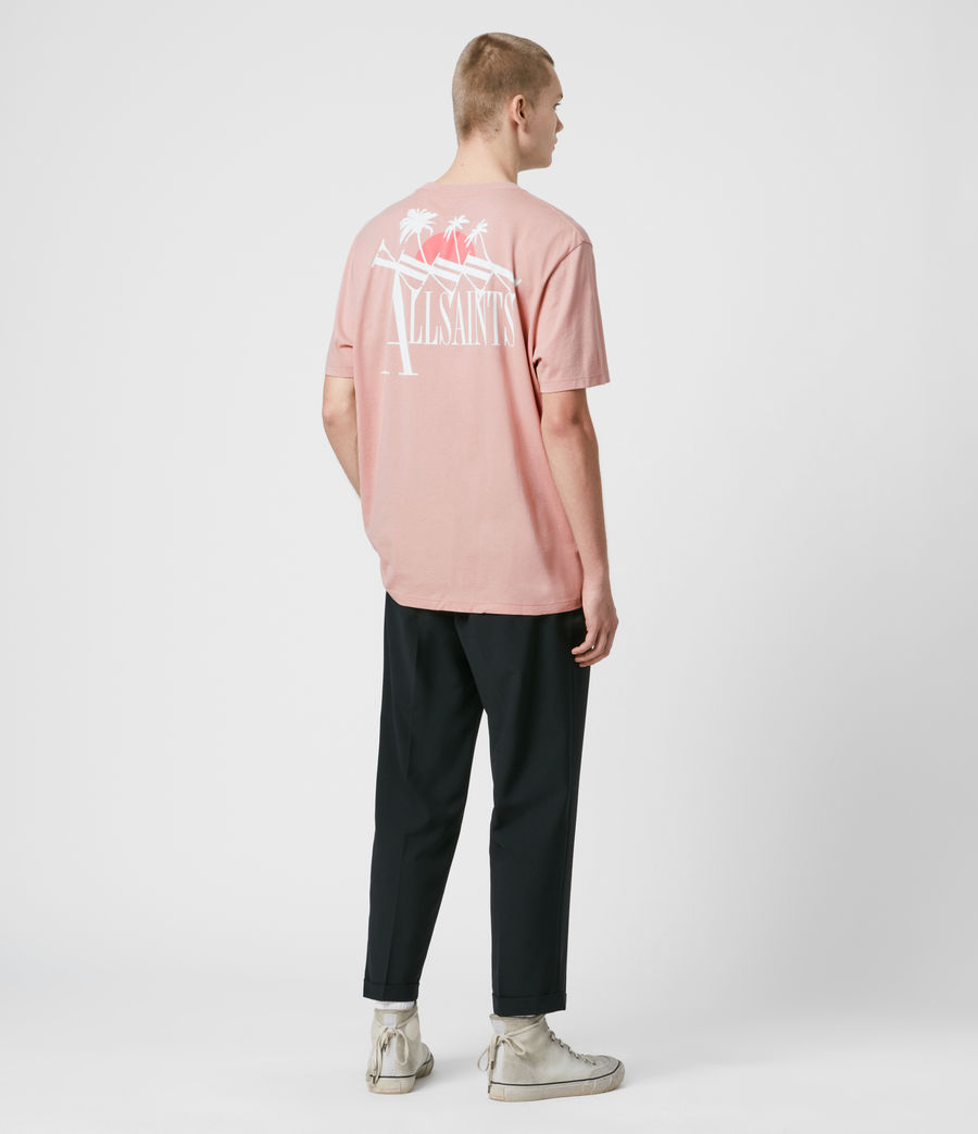 Men's Tre Palmas Crew T-Shirt (sunset_pink) - Image 5