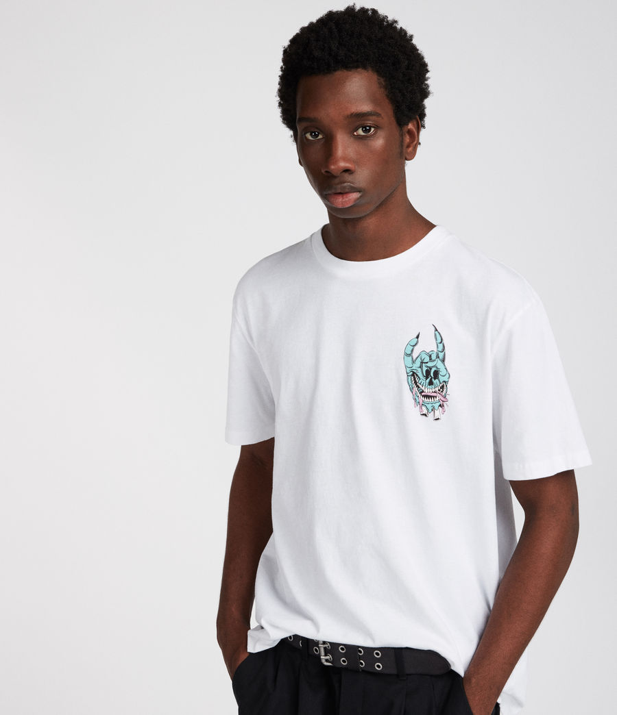 Mens Handy Crew T-Shirt (optic_white) - Image 4