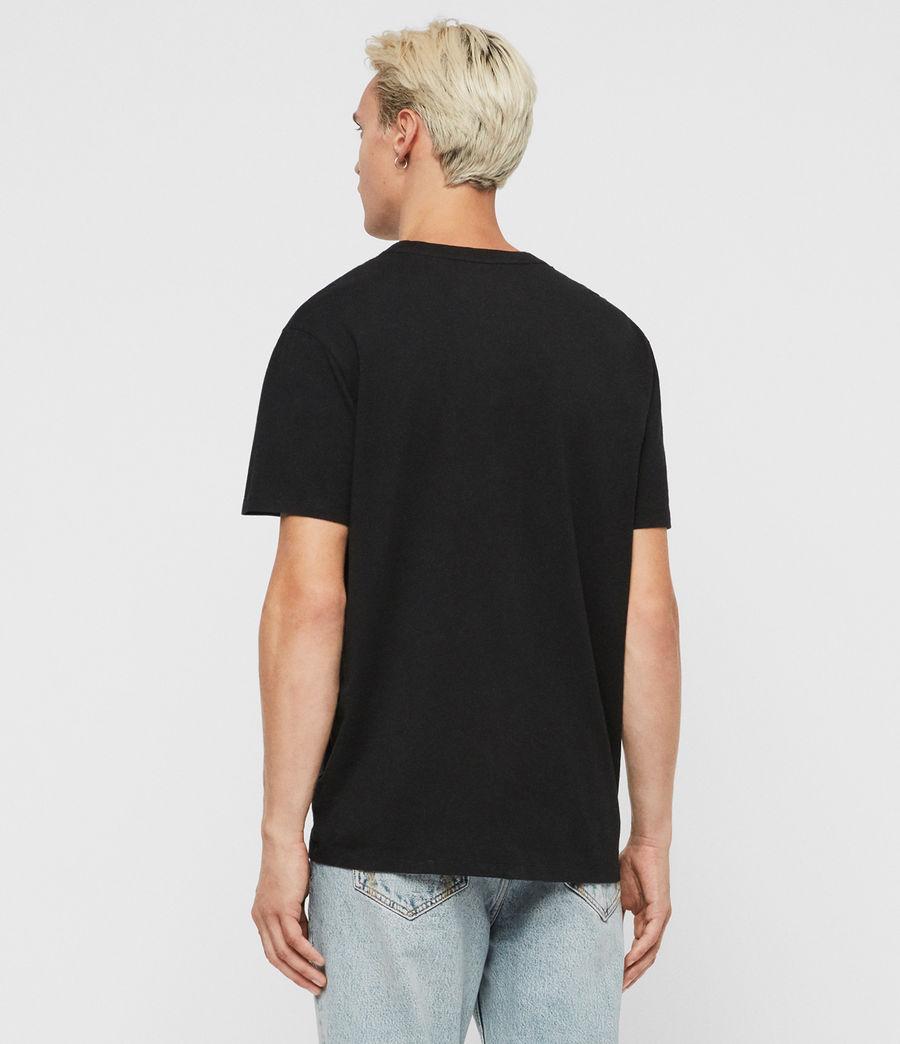 Hombres Camiseta Cube (jet_black) - Image 5