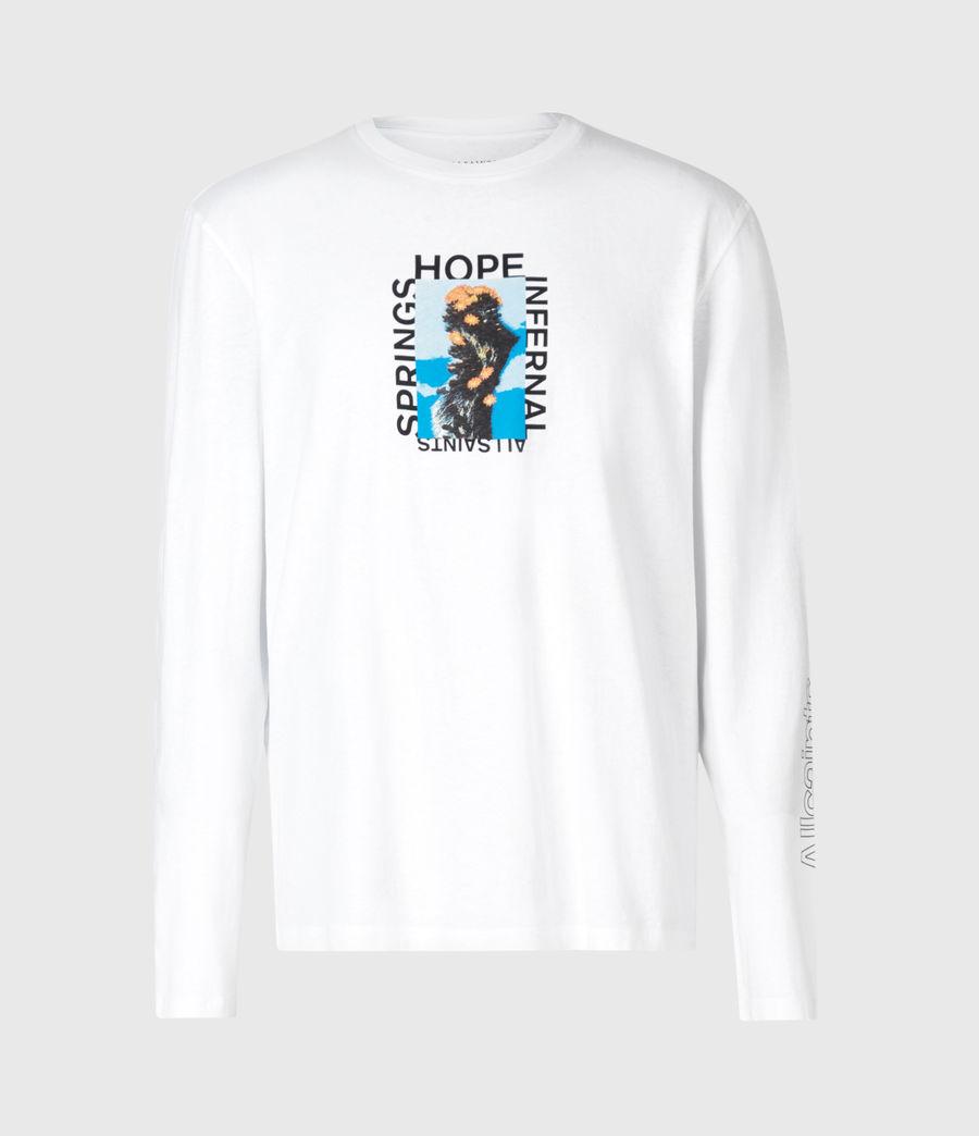 Mens Desert Rose Crew T-Shirt (optic_white) - Image 2