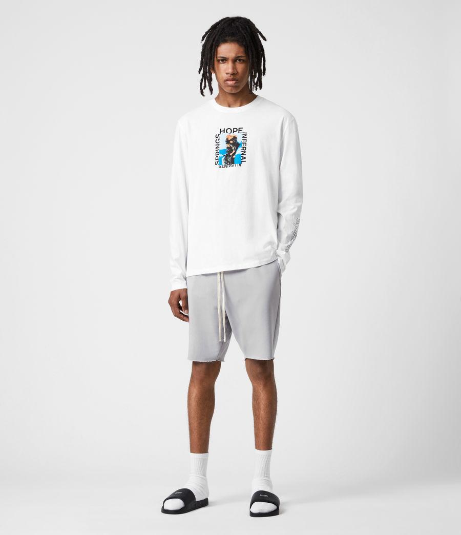 Mens Desert Rose Crew T-Shirt (optic_white) - Image 4