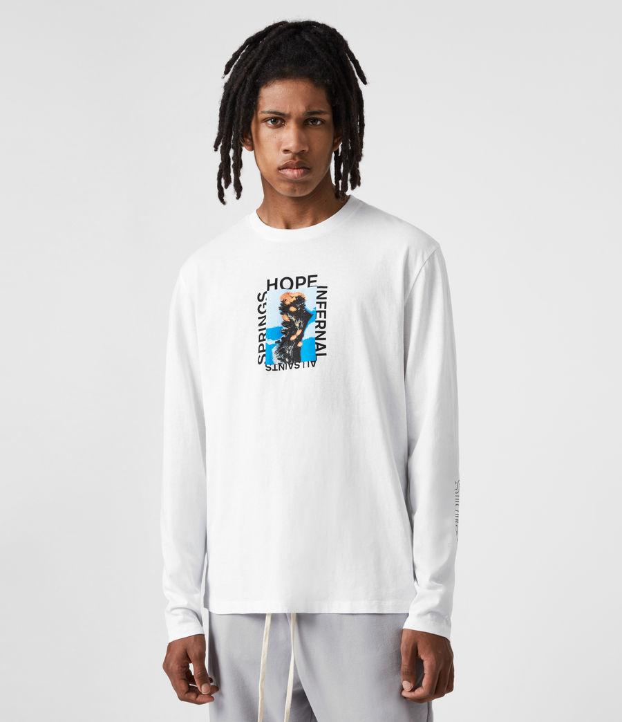 Mens Desert Rose Crew T-Shirt (optic_white) - Image 7