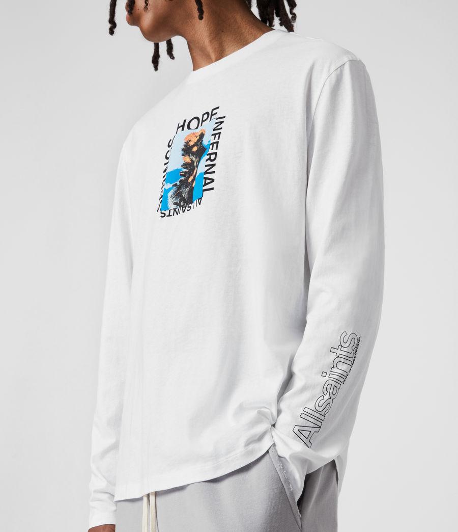 Mens Desert Rose Crew T-Shirt (optic_white) - Image 8