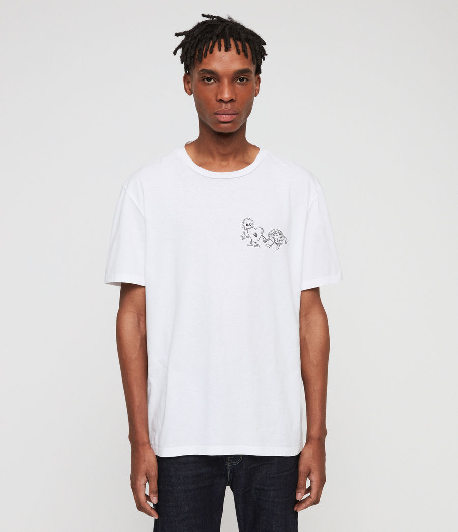 Men's Peeps Crew T-Shirt (optic_white) - Image 1